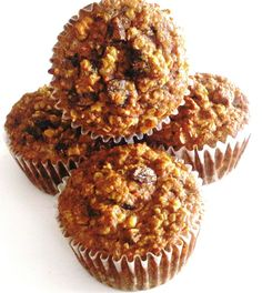 Coconut Flour Carrot Oatmeal Muffins