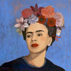 """Lesson idea:students complete painting of famous artists using photographic reference and elements of their style. Link in with Appraising tasks/assignment. Saatchi Art Artist Martyna Zoltaszek; Painting, """"Burn it Blue"""""""