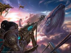 Skywhaler's Shot - Kaladesh MtG Art