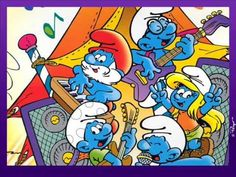 A Desktop Wallpaper featuring The Smurfs (Les Schtroumpfs) that were created by Belgian cartoonist Peyo in 1958 x 768 Pixels) Looney Tunes Cartoons, 90s Cartoons, The Smurfs, Mickey Mouse Images, Step On A Lego, Old School Cartoons, Smurfette, Saturday Morning Cartoons, Grimm Fairy Tales