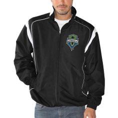 Seattle Sounders FC Taslan Full Zip Jacket - Black