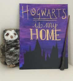 Harry Potter Quote Canvas Painting Hogwarts Is by TheFandomQuote