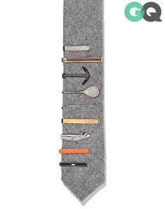 ✔️ Tie bars... GQ   Essentials (men's accessories), visit http://www.pinterest.com/davidos193/