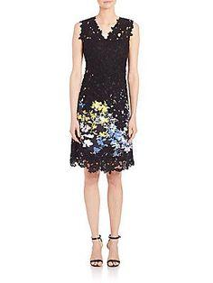 Elie Tahari Tinley Stretch-Cotton Dress - Color - Size
