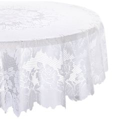 Amazon.com - DII 100% Polyester, Machine Washable Tablecloth Floral Lace 54x72, 60x90, 63 Round #AmazonCart #DII #DesignImports