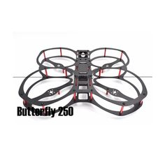 Butterfly Thickness Aluminum Standoff Carbon Fiber Frame Kit for FPV Cross Racing Drone Quadcopter
