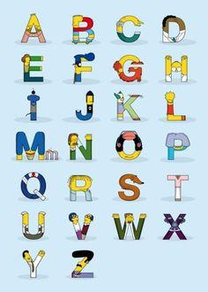 Simpsons' alphabet.