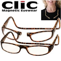 2b58ac5d2be1 CliC Euro Magnetic Front Connect Reading Glasses  Dark Tortoise   34.82  Mens Glasses