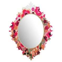 Brightly Blooming Wall Mirror