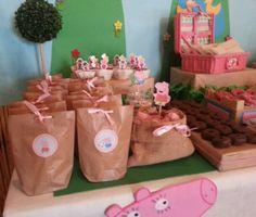 Diseño y decoración de eventos # sevilla # cumpleaños Pepa pig III# bolsitas personalizadas para snacks