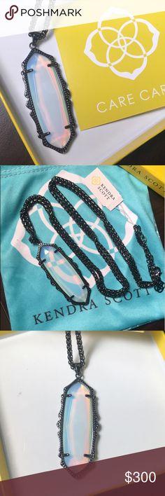 KENDRA SCOTT OPALITE GUNMETAL FRANCES ✨✨RARE RARE RARE. ✨✨   🚫NO LOWBALL OFFERS OR YOU WILL BE BLOCKED🚫   NO TRADES. Kendra Scott Jewelry Necklaces