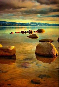 """~~Tahoe Zen ~ Lake Tahoe, California by Barbara Brown~~ Reminds me of a scene from the movie """"Return To OZ"""". All Nature, Amazing Nature, Beautiful World, Beautiful Images, Reisen In Die Usa, Photos Voyages, Belleza Natural, Lake Tahoe, Belle Photo"""