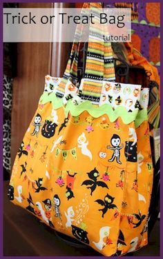 Trick or Treat Halloween Bag - Free Sewing Tutorial by Trisha Weekes