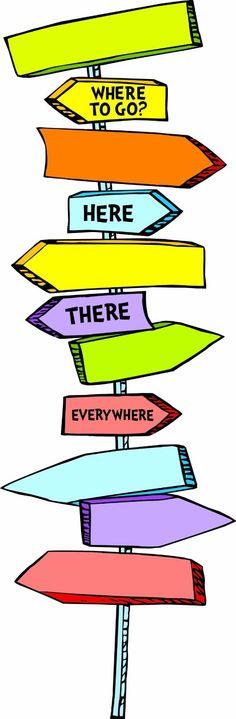 Amazon.com: Eureka Dr. Seuss Blank Directional Signs Mini Bulletin Board Set: Toys & Games