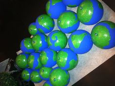 World ornaments!! Awesome idea for earth day or kids around the world