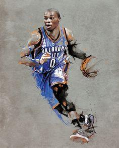 Oklahoma City Thunder | Russell Westbrook Original  #NBA #Art #OKC