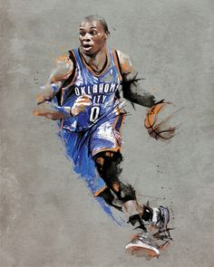 Oklahoma City Thunder | Russell Westbrook Original  #NBA #Art #OKC