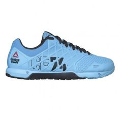 692f4af84f30 Reebok Crossfit Nano 4.0 Mens Training Shoe M47666 Neon Blue-Black