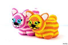 Crochet Amigurumi Pattern Toy Cat by Amichy on Etsy