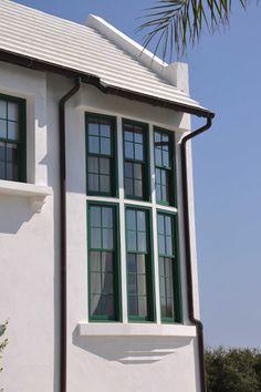 green window frames