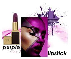"""purple lipstick"" by aquapillar ❤ liked on Polyvore featuring beauty"