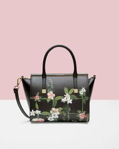 27a269f997 Secret Trellis leather tote bag - Black | Bags | Ted Baker UK Sacs À Main