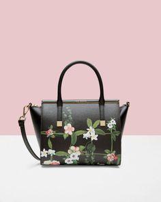 7e23634bc7 Secret Trellis leather tote bag - Black | Bags | Ted Baker UK Sacs À Main