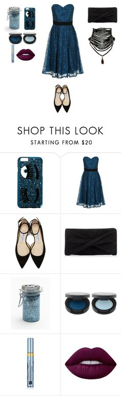 """Untitled #62"" by rose-oolong on Polyvore featuring Chiara Ferragni, Little Mistress, Jimmy Choo, Reiss, Major Moonshine, Estée Lauder and Lime Crime"