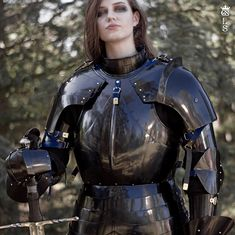 Women In Shining Armour ( I present to everyone an amazing new photo session by GS Studio armour workshop featuring the beauti Female Armor, Female Knight, Medieval Armor, Medieval Fantasy, Fantasy Character Design, Character Inspiration, Viking Warrior, Warrior Women, Armor Clothing