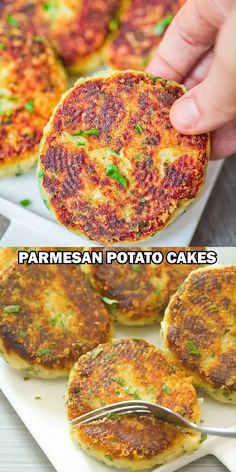Parmesan Potato Cakes – These Parmesan Mashed Potato Cakes are addictive! A crunchy, cheesy crust hides the – Parmesan Potato Cakes – These Parmesan Mashed Potato Cakes are addictive! A crunchy, cheesy crust hides the – Potato Dishes, Veggie Dishes, Vegetable Recipes, Savoury Dishes, Vegetable Snacks, Food Dishes, Main Dishes, Tasty Videos, Food Videos