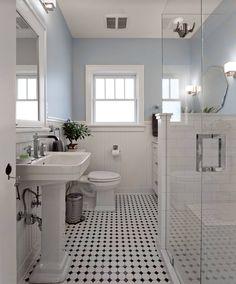 The 15 Best Tiled Bathrooms On Pinterest  White Mosaic Tiles Cool Black And White Mosaic Tile Bathroom Design Ideas