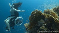 Underwater wheelchair put to test ahead of Paralympics  By Zoe Kleinman  Technology reporter, BBC News