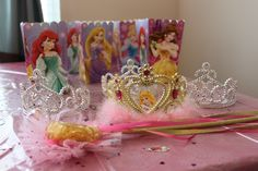 Disney princess birthday party decorations tiaras and wands