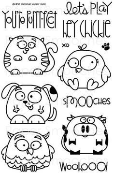 craft, hand embroideri, doodles, doodl stamp, papersmooch, art, chubbi chum, card, paper smooches stamps