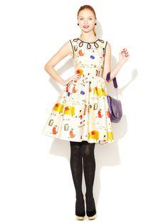 Rainey Printed Eyelet Dress by kate spade new york on Gilt.com