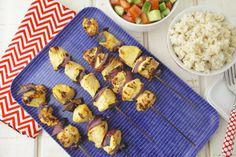 Persian Chicken Kabobs on Weelicious