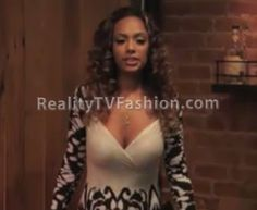 #LHHNY Erica Mena's Black & White Bodycon Maxi Dress