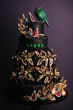 Emerald Jewelry Inspired Wedding Cake by Alex Narramore (The Mischief Maker) - http://cakesdecor.com/cakes/299838-emerald-jewelry-inspired-wedding-cake