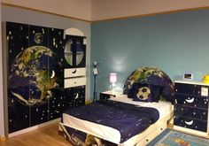 Boys room! Outer space themed room:)