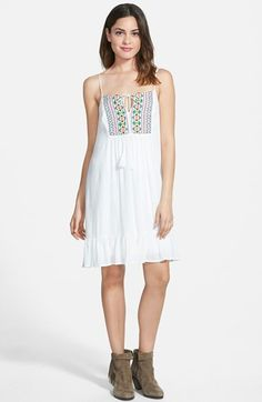 Way-In Embroidered Ruffle Hem Dress | Nordstrom