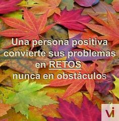 A positive mind converts their problems into Chalenges. never in obstacles. Positive Mind, Positive Thoughts, Reality Quotes, More Than Words, Spanish Quotes, Wise Words, Best Quotes, Poems, Mindfulness