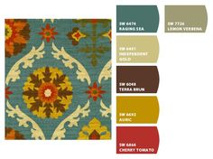 Fabric - waverly (joann) and paint colors