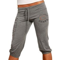 $40 Junk Food Chicago Bears Ladies Ash Lounge Tri-Blend Cropped Pants