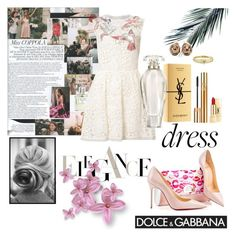 """""""THE MOST PERFECT DRESS"""" by florencia6969 ❤ liked on Polyvore featuring Christian Louboutin, RED Valentino, Christian Dior, Jennifer Meyer Jewelry, Yves Saint Laurent, Victoria's Secret and dreamydresses"""
