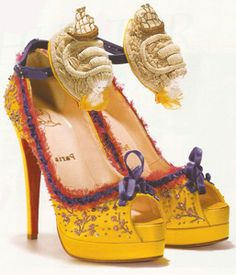 """""""Let them eat cake!""""  Marie Antoinette inspired Louboutin. Only 36 made. Crazy."""
