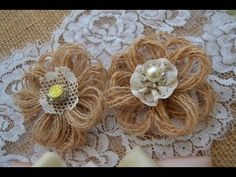 (482) Como fazer flores rusticas de juta - YouTube