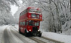 RT bus in the snow