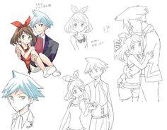 """Trusting we will meet again,"" Pokemon Mew, Pokemon Ships, Pokemon Comics, Sailor Princess, Black Dragon, Cartoon Movies, Anime Couples, All Art, Anime Art"