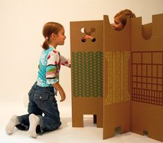 Whether mom wants to separate her child's sleep and play areas or keep squabbling siblings from going at it, these decorative panels (10 in all) by artist Enzo Mari band together to do the trick. www.interplas.com/corrugated-boxes