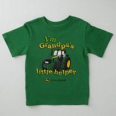 Infant Grandpas Helper John Deere Tee I want this .